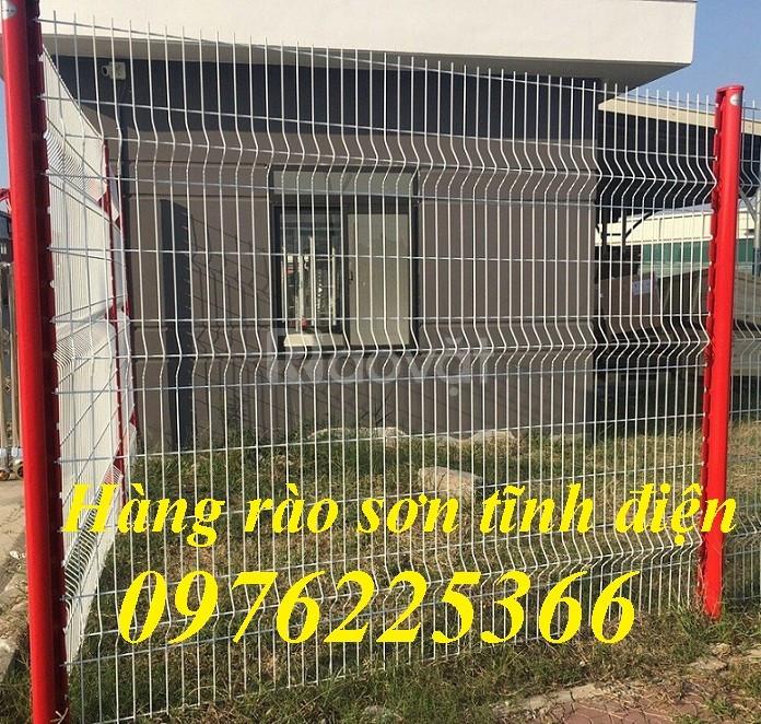 Hàng rào lưới thép, lưới thép hàn chập, hàng rào lưới sơn tĩnh điện