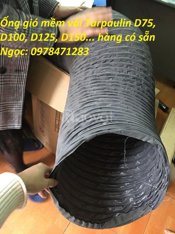 Ống gió mềm vải có bảo ôn, ống thông khí D100, D200, D300, D400, D500
