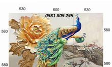 Tranh chim công, gạch tranh, tranh ốp tường