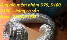 Ống gió mềm nhôm 1 lớp, ống gió mềm nhôm có bảo ôn, ống hút mùi