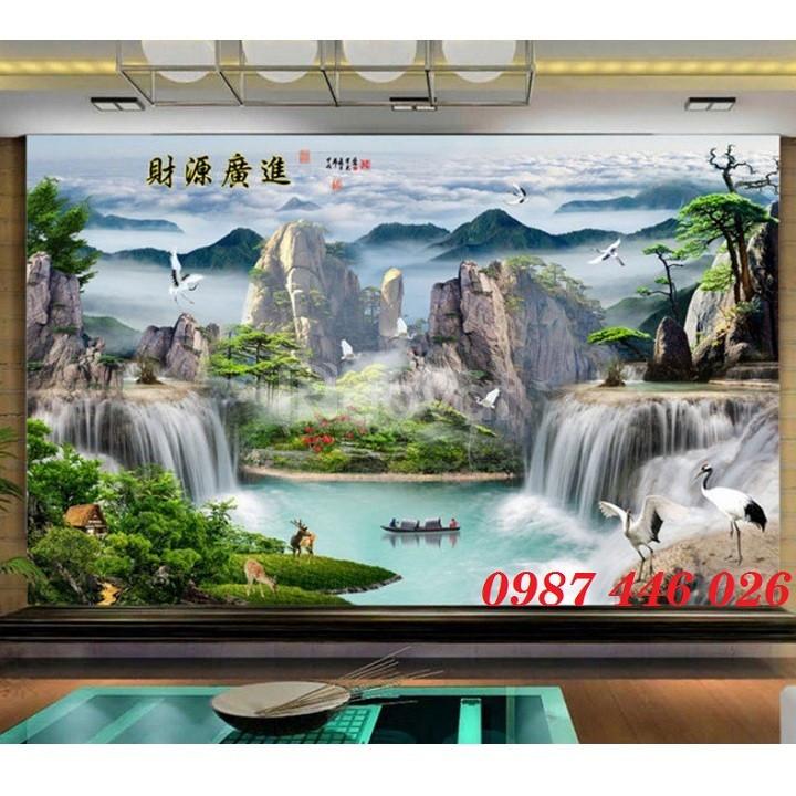 Tranh 3d phong cảnh , tranh gạch men, tranh trang trí