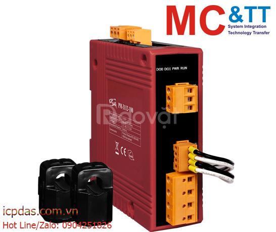 Bộ đo điện thông minh 1 pha (2 Loop) 60A ICP DAS PM-3112-100-CPS