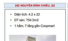 Chuyển nhượng building số 252 Nguyễn Đình Chiểu, P8, Q3
