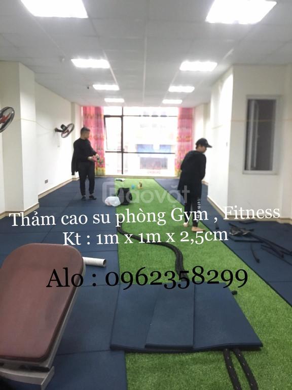 Thảm cao su tập gym