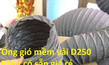 Ống gió mềm vải, ống thông gió D250