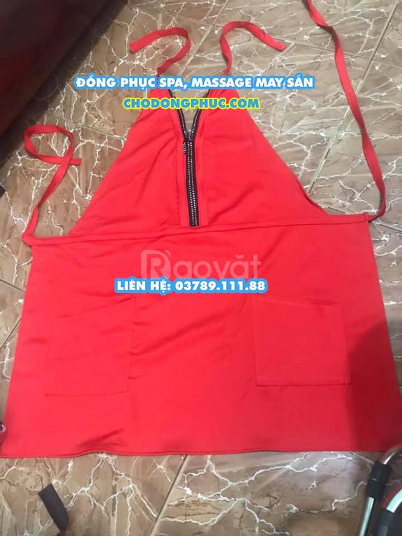 Đồng phục tạp dề Spa, tạp dề Nail dành cho nam, nữ giá rẻ