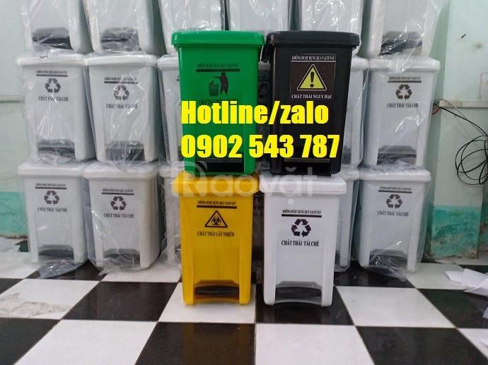 Thùng rác đạp chân y tế, thùng rác y tế đạp chân 20L