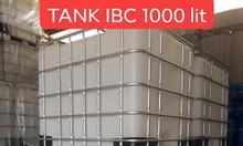 Thanh lý bồn nhựa 1000L đựng hóa chất cũ, thùng tank nhựa ibc cũ 1000L