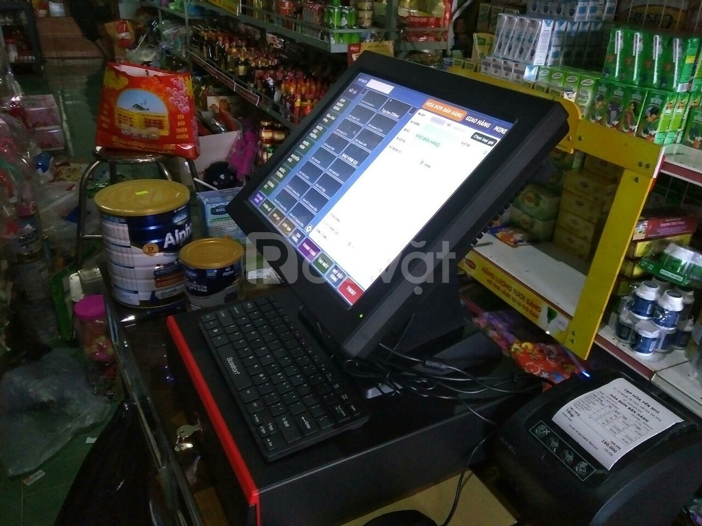 Lắp đặt bộ máy tính tiền cho shop, tạp hóa tại Phú Quốc - Kiên Giang