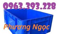Thùng nhựa đặc BL001, thùng nhựa công nghiệp, thùng đựng linh kiện