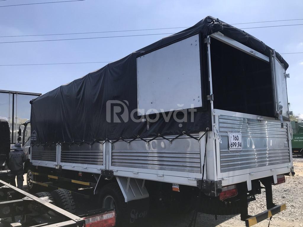 Xe tải faw 7.3 tấn - 7t3 động cơ hyundai, thùng mui bạt dài 6.25 mét