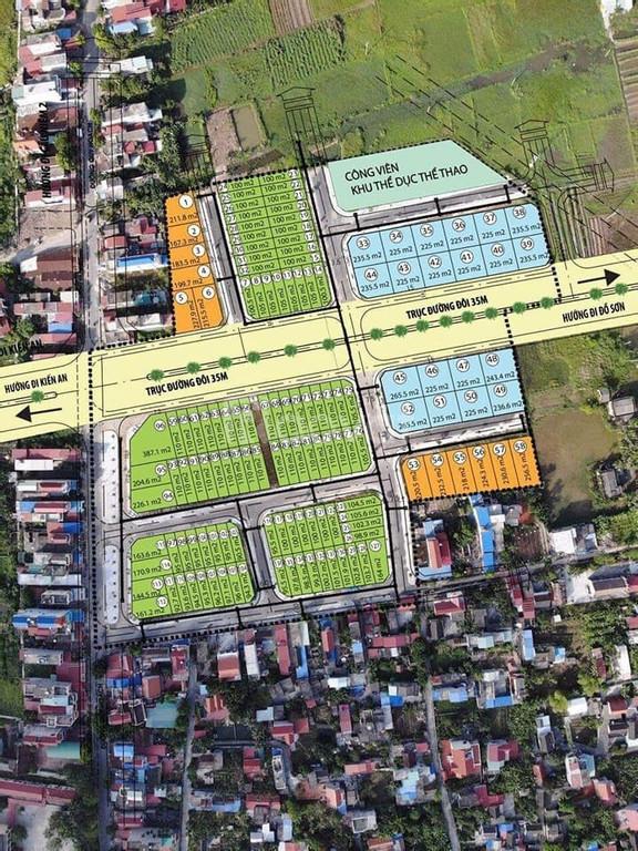 Bán lô đất tại Dương Kinh Đa Phúc Hải Phòng. Giá đầu tư