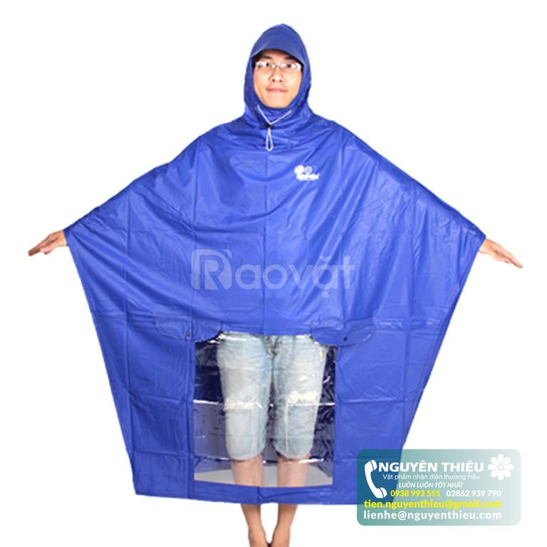 Cơ sở in áo mưa nhận diện thương hiệu, in logo áo mưa giá rẻ