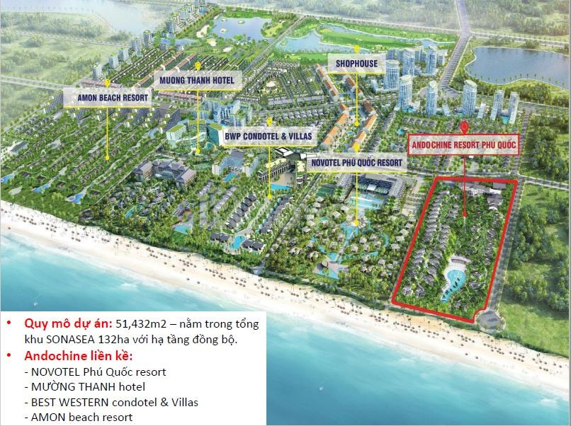 Bán biệt thự biển Fecon Bãi Trường Phú Quốc, tự do ở và kinh doanh
