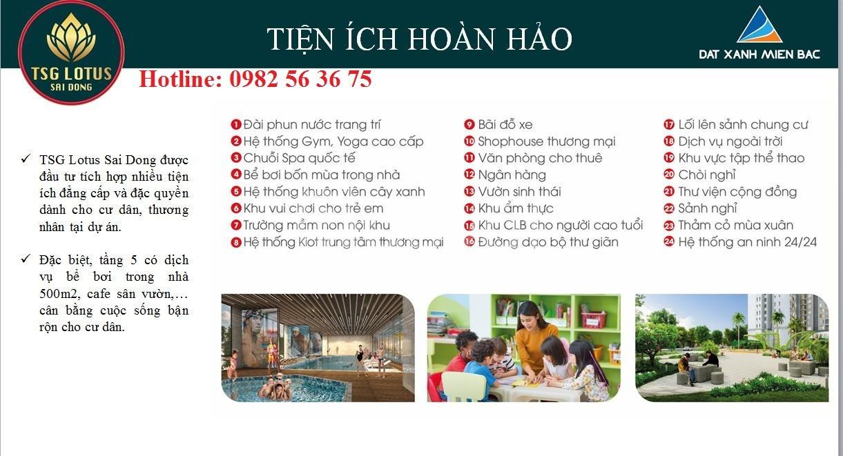 Cơ hội cuối cùng SH CH TSG Lotus Long Biên, ck 8%, Ls 0%