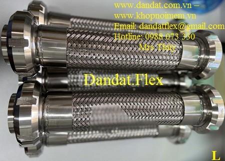 Khớp nối chống rung inox, Dây cấp nước mềm inox, Khớp nối mềm