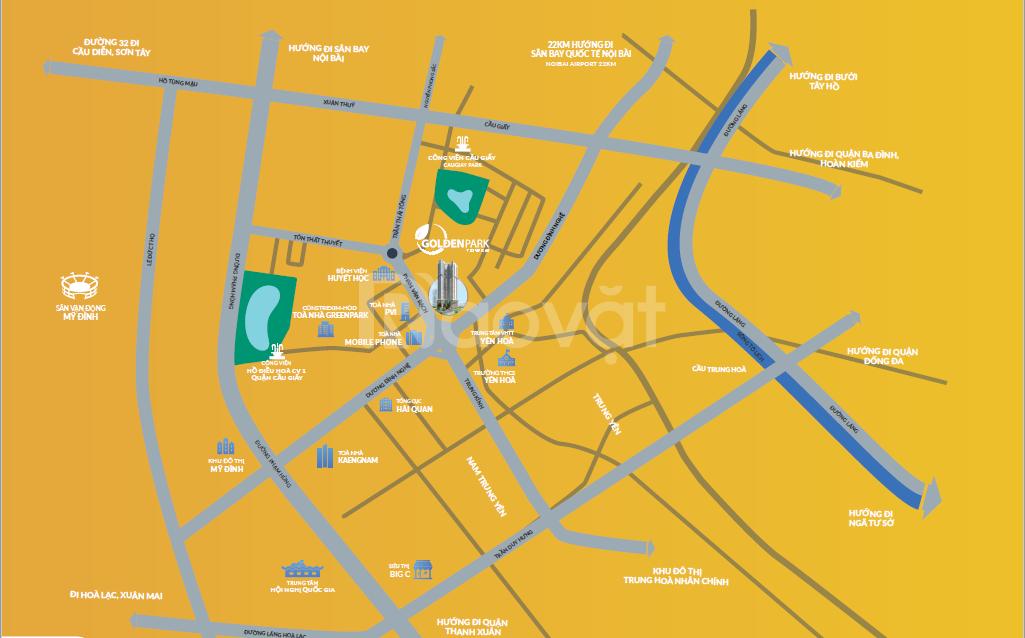 Golden Park Tower trung tâm Cầu Giấy ưu  đãi lớn chỉ trong 29/2