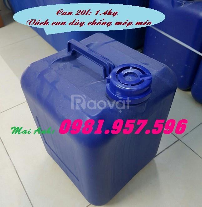 Can nhựa hóa chất, can nhựa có nắp chống tràn