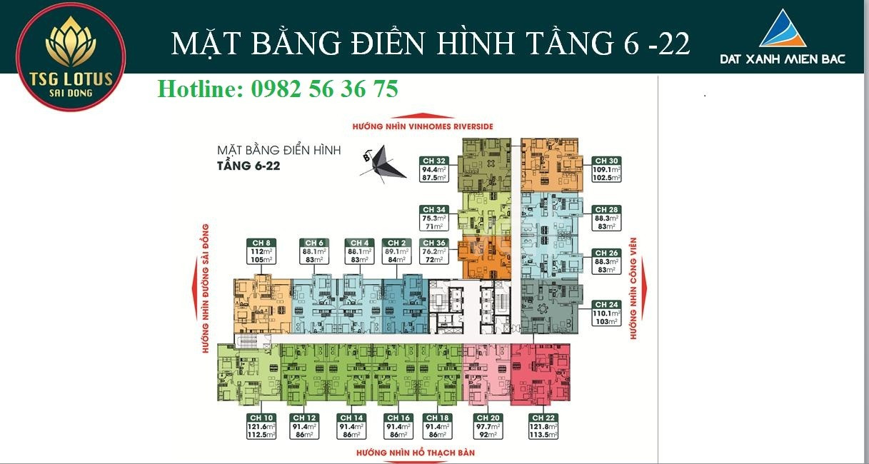 Cơ hội cuối cùng sở hữu CH TSG Lotus Long Biên, ck 8%, Ls 0%