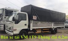 Bán xe tải VM Isuzu 1T9 thùng 6m2 rộng 1m8 2m giá ưu đãi