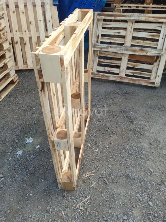 Thanh lý Pallet gỗ kê hàng, Kệ gỗ pallet đã qua SD Quảng Ngãi