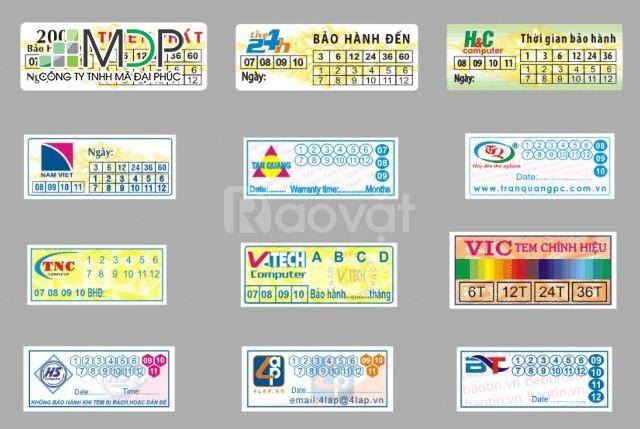 In tem bảo hành giá rẻ lấy ngay tại Hà nội (ảnh 1)