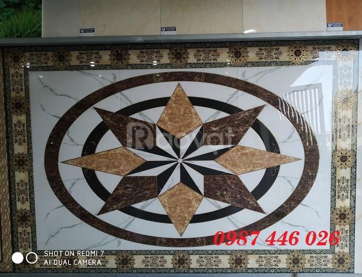 Gạch thảm trang trí sàn hoa 3d