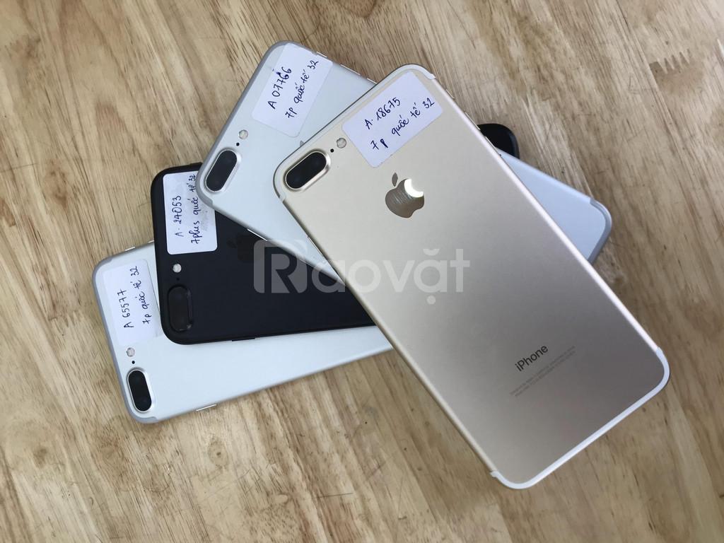 Điện thoại iphone 7 plus quốc tế 32gb máy 99%, nguyên bản