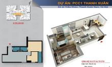 Chính chủ cần bán lại căn 60m2 chung cư PCC1 Triều Khúc