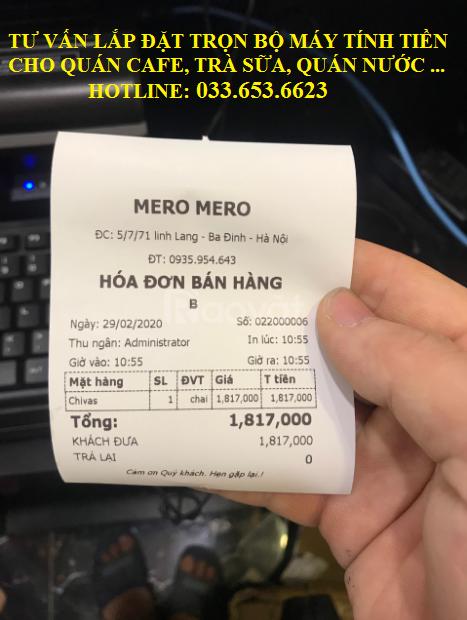 Tư vấn lắp đặt máy tính tiền cho quán cafe, bia tại Hà Nội