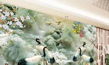 Tranh gạch chim hạc sứ ngọc 3d