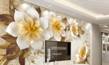 Tranh 3d dán tường phòng khách- tranh gạch men