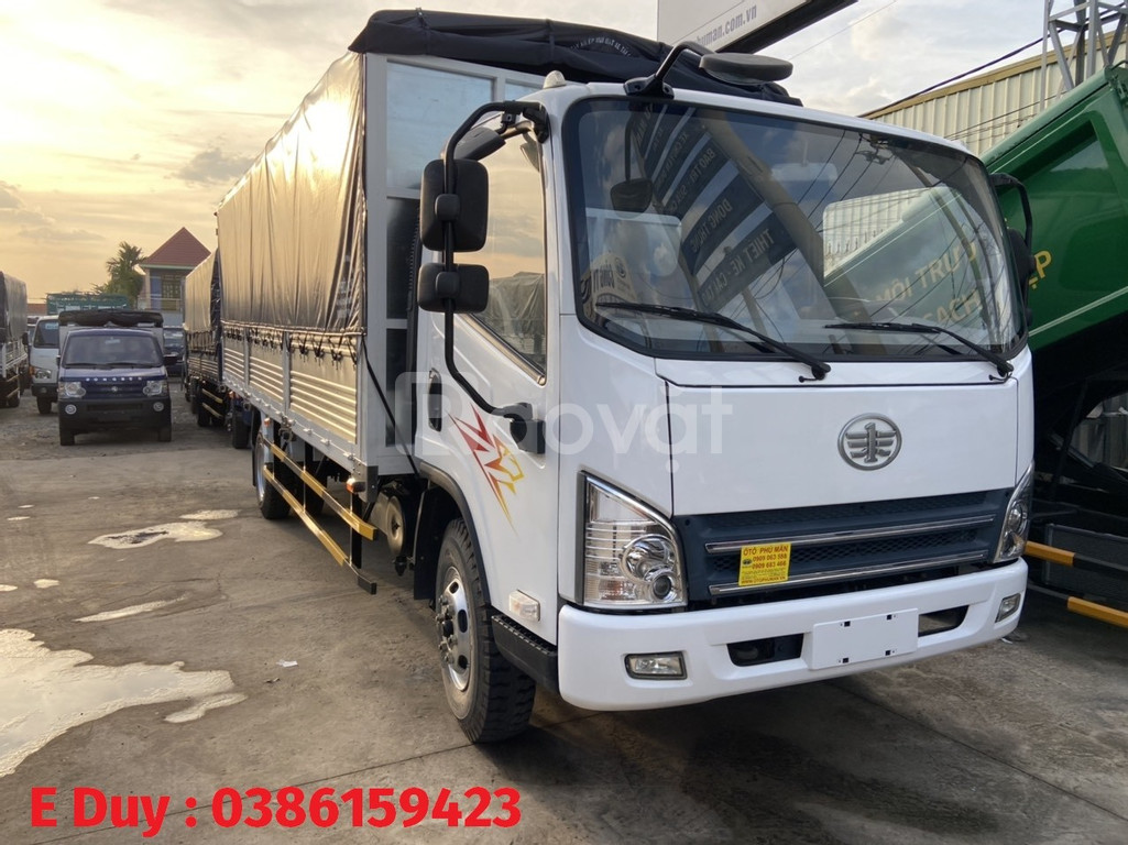 Xe tải 8 tấn chiều dài 6m2 / faw 7t3 máy hyundai trả góp 80% xe mới