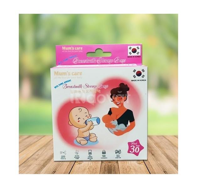 Túi trữ sữa cảm ứng nhiệt Mum's Care (hàn quốc) 210ml