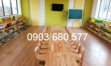 Nơi bán bàn ghế gỗ cho trẻ em mầm non giá rẻ, uy tín, chất lượng
