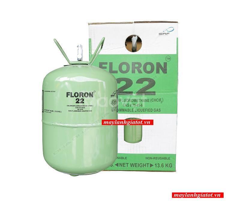 Bán giá đại lý gas lạnh Floron R22 bình 13.6 kg - Điện máy Thành Đạt