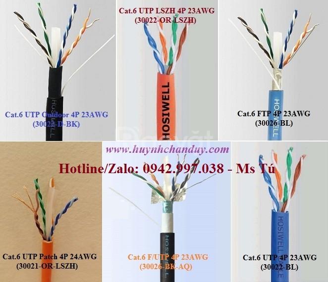 Cáp mạng Cat.6 F/UTP (30026-BK-AQ) Hosiwell kháng nước , 305m/cuộn