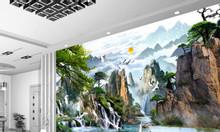 Tranh ốp tường, gạch tranh 3d, tranh gạch men