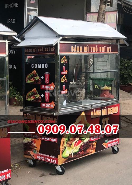Xe bán bánh mì Thổ Nhĩ Kỳ mái chùa 1M4 - KP006_XT