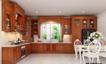 Tủ bếp gỗ tự nhiên sang trọng tại tủ bếp Artkitchen