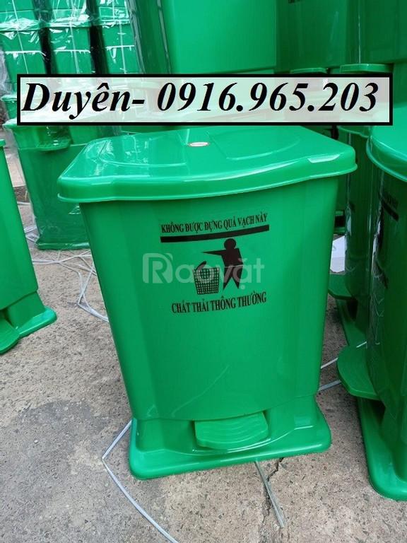 Thùng đựng rác đạp chân y tế 20l