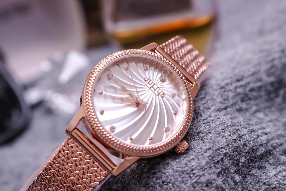 Đồng hồ nữ Hàn Quốc Julius JA-1219 dây đeo xương cá xoắn ốc cá tính