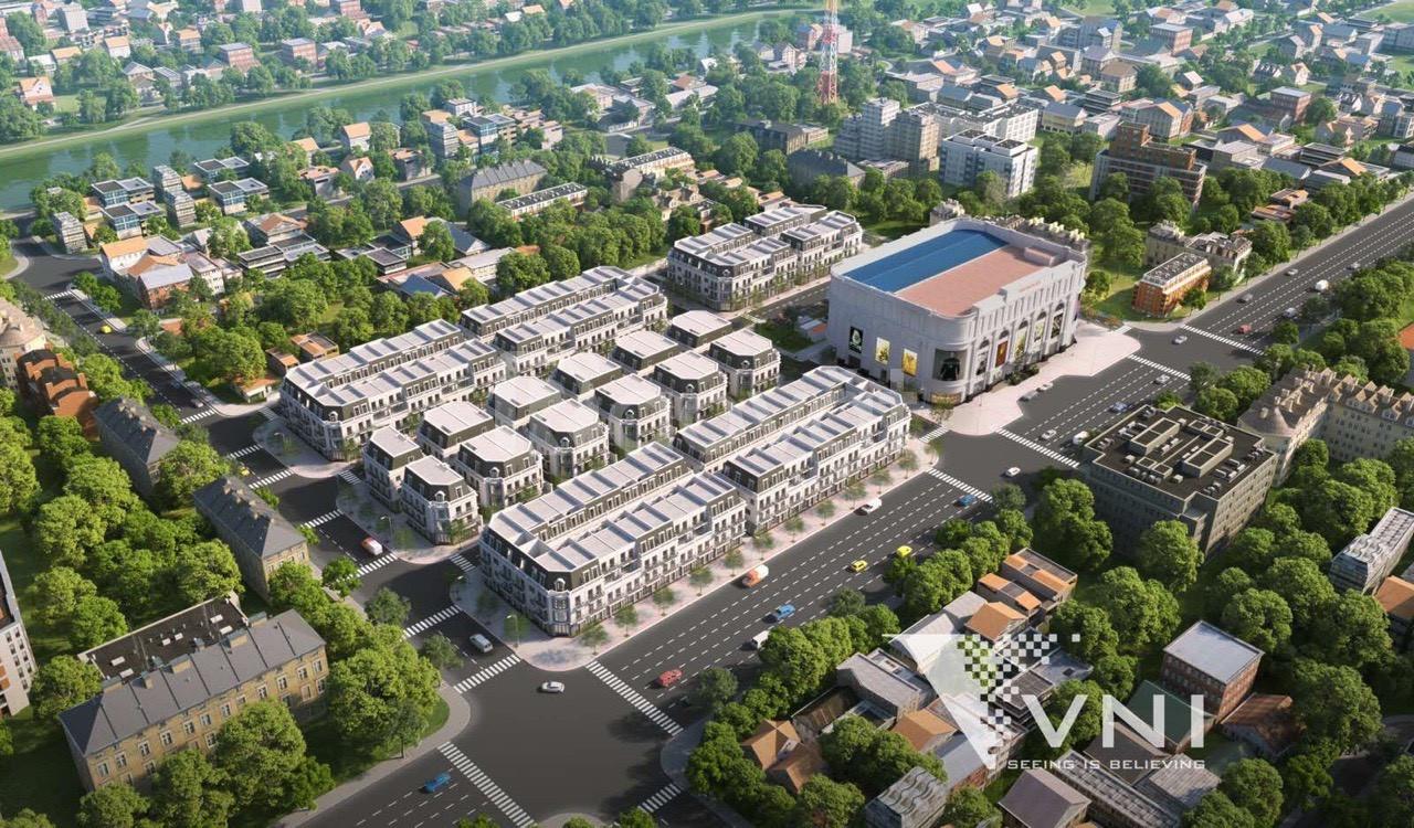 Cập nhật tiến độ thi công dự án Nhà Phố Vincom Shophouse Mỹ Tho.