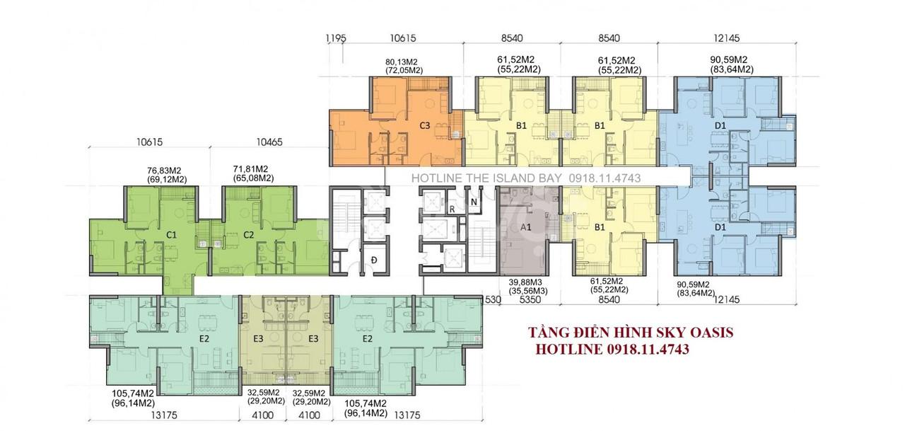 Ra mắt chung cư sky oasis ecopark S:29-97m2
