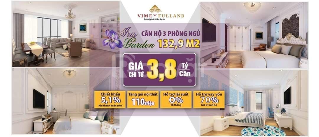 Bán gấp căn hộ 3 phòng ngủ Iris Garden Mỹ Đình rẻ (ảnh 1)