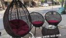 Ghế xích đu, bàn ghế ban công mây giả nhựa (ảnh 1)