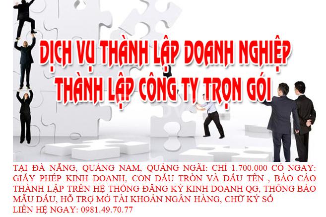 Dịch vụ thành lập doanh nghiệp giá rẻ tại tỉnh Quảng Nam (ảnh 1)
