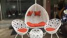 Ghế xích đu, bàn ghế ban công mây giả nhựa (ảnh 8)