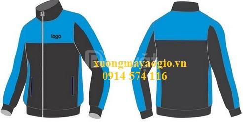 Gia công áo gió áo khoác quà tặng đồng phục theo yêu cầu
