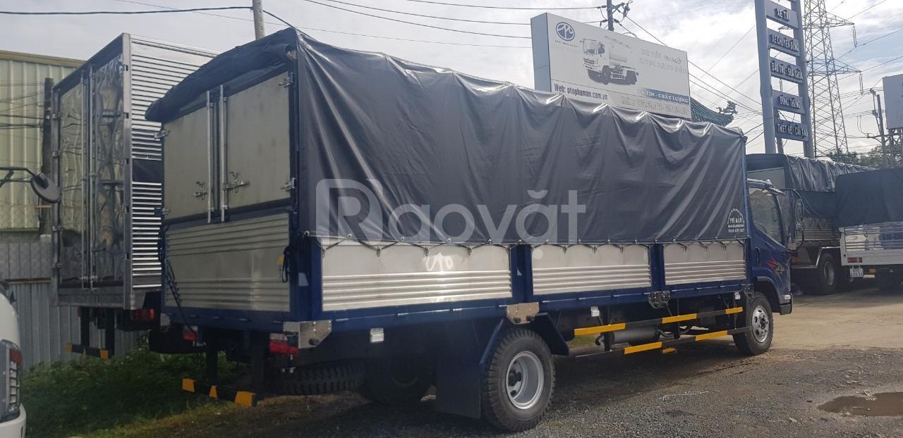 Xe 8 tấn faw động cơ hyundai ga cơ, thùng bạt dài 6m3